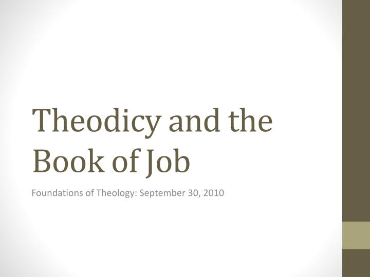 theodicy and the book of job n.