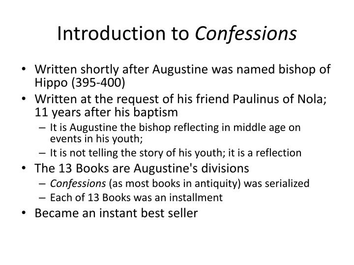introduction to confessions n.