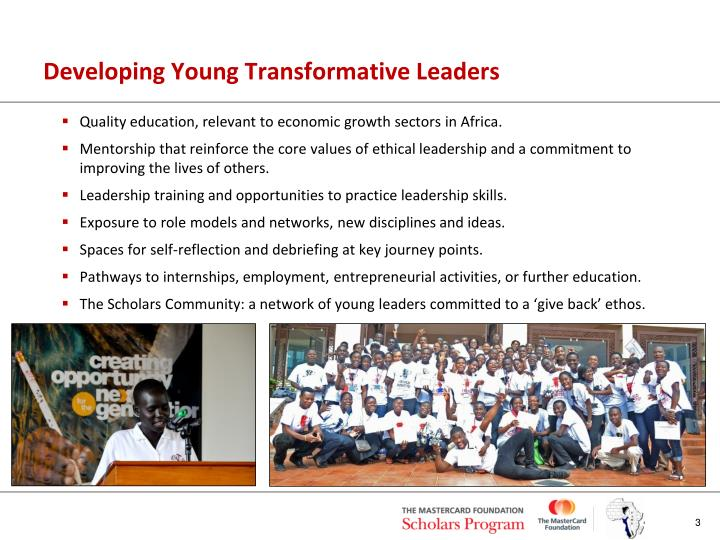 Developing young transformative leaders