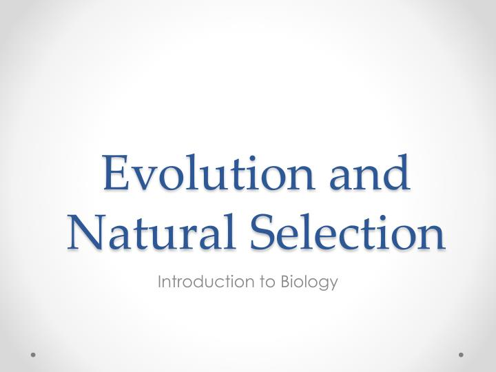 evolution and natural selection n.
