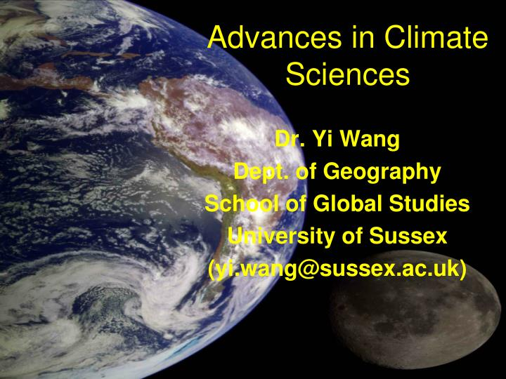 advances in climate sciences n.