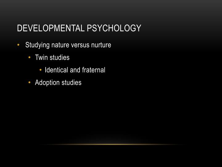 adoption and nature vs nurture Adoption plays a role in the long time psychological debate of nature vs nurture this paper will address the nature vs urture debate, how adoptions plays a role in the debate, give a history of adoption, and tell the story of a personal friend who was adopted and overcame the tragedy of his nature and was able to triumph through his.