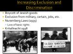 increasing exclusion and discrimination