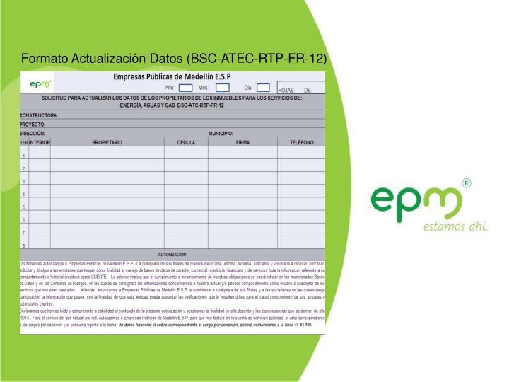 Formato Actualización Datos (BSC-ATEC-RTP-FR-12)