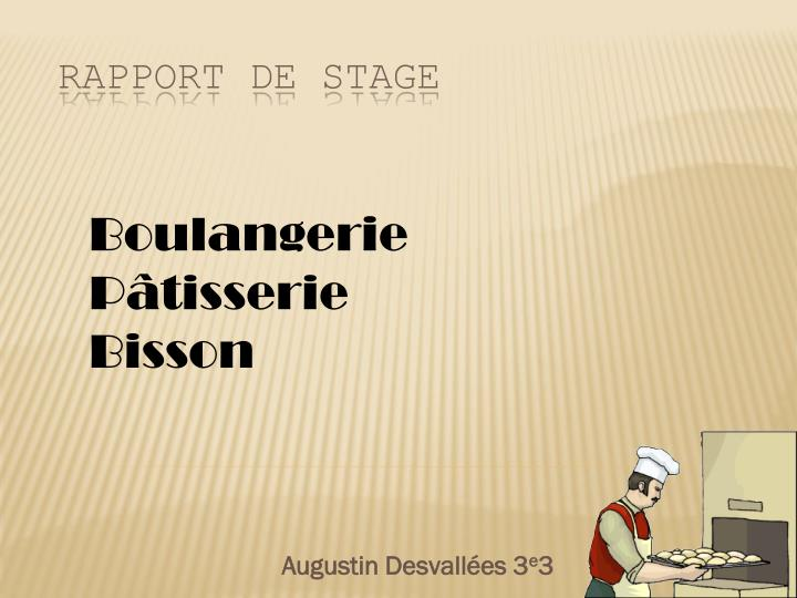 Ppt Rapport De Stage Powerpoint Presentation Free
