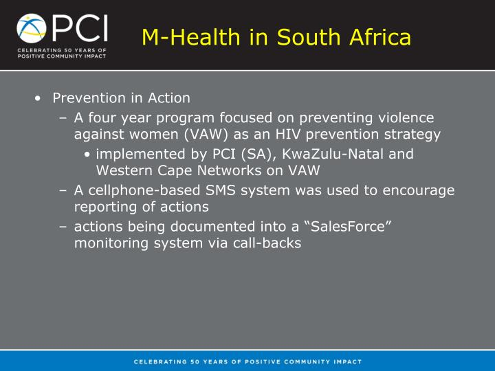 M-Health in South Africa