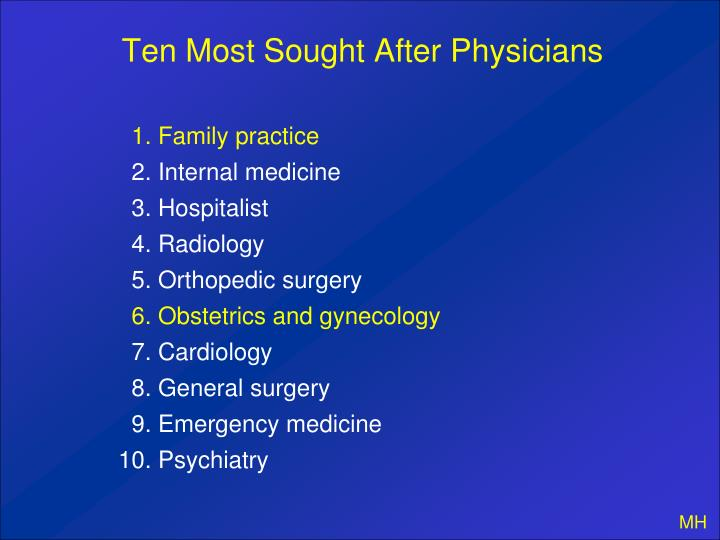 Ten Most Sought After Physicians