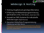 webdesign hosting