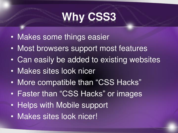 Why CSS3