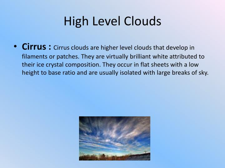 High Level Clouds