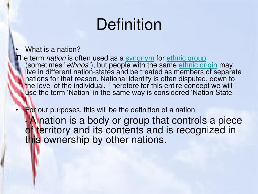 PPT - Nationalism PowerPoint Presentation - ID:2132344