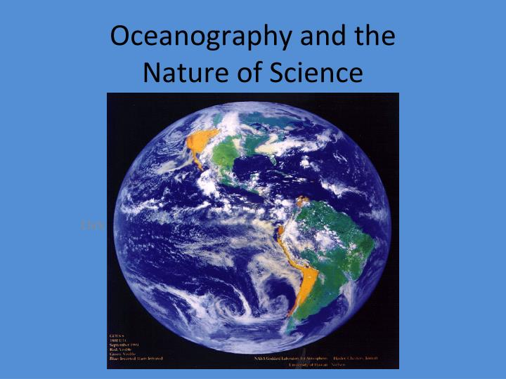 oceanography and the nature of science n.