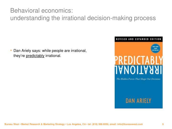 Behavioral economics: