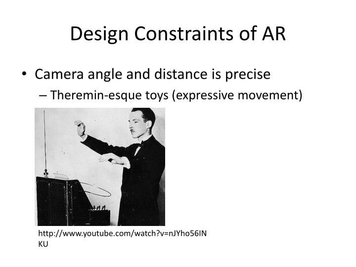 Design Constraints of AR