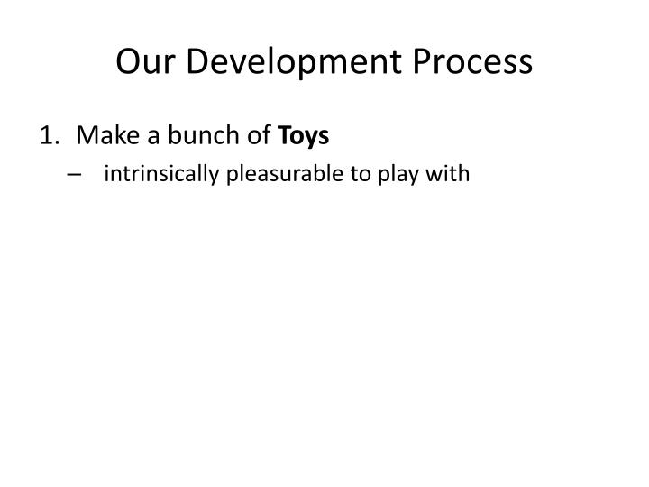 Our development process1
