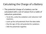 calculating the charge of a battery