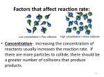 factors that affect reaction rate1
