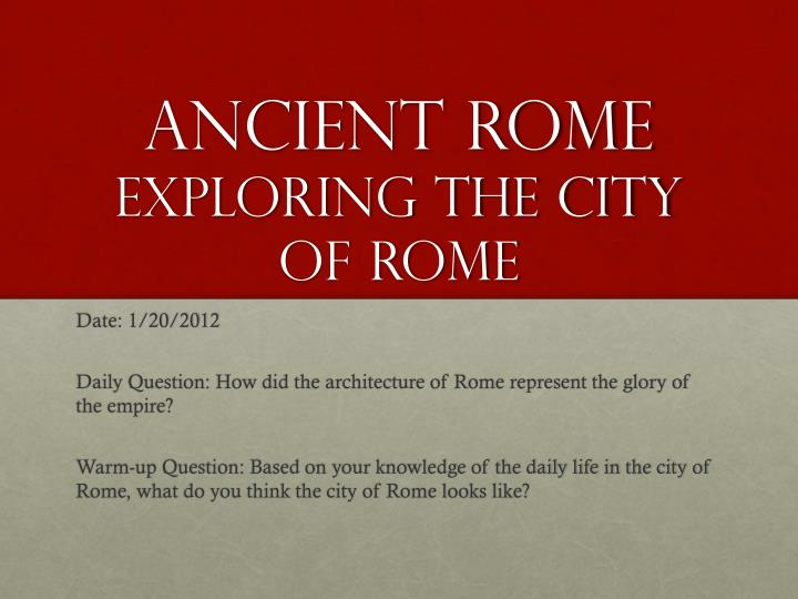 ancient rome exploring the city of rome n.