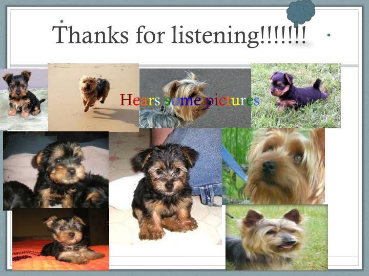 Thanks for listening!!!!!!!