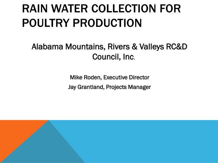 rain water collection for poultry production n.