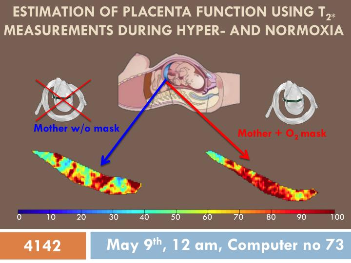 estimation of placenta function using t 2 measurements during hyper and normoxia n.
