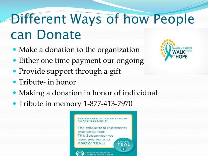 Different Ways of how People can Donate