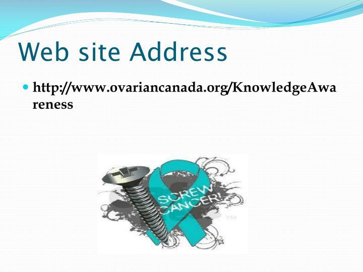 Web site Address