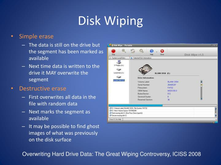 Disk Wiping
