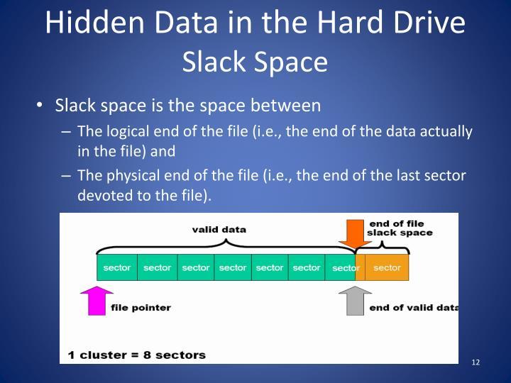 Hidden Data in the Hard Drive