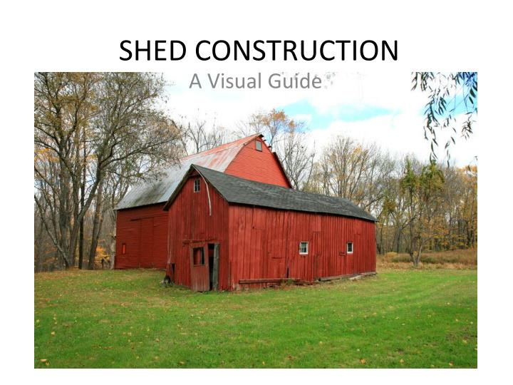 shed construction n.