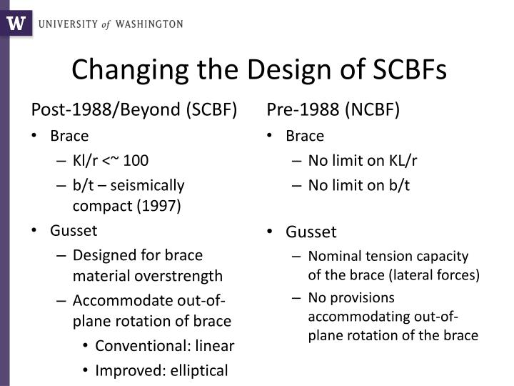 Changing the design of scbfs