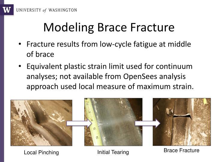 Modeling Brace Fracture