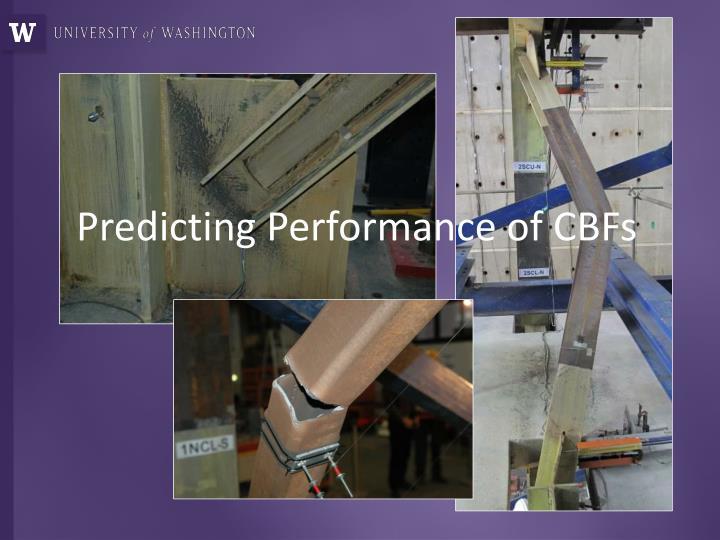 Predicting Performance of CBFs