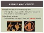 prayers and sacrifices