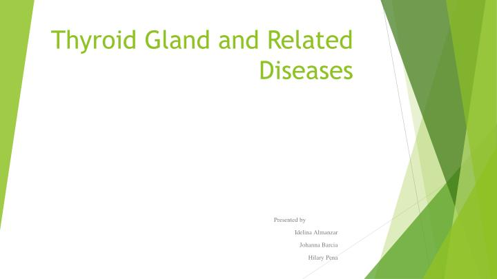 thyroid gland and related diseases n.