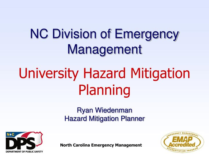 nc division of emergency management n.