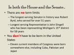 in both the house and the senate