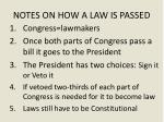 notes on how a law is passed
