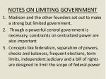 notes on limiting government