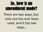so how is an amendment made