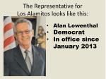 the representative for los alamitos looks like this