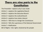 there are nine parts to the constitution