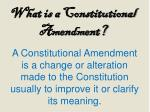 what is a constitutional amendment