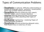 types of communication problems