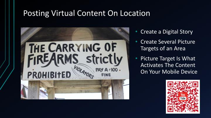 Posting Virtual Content On Location