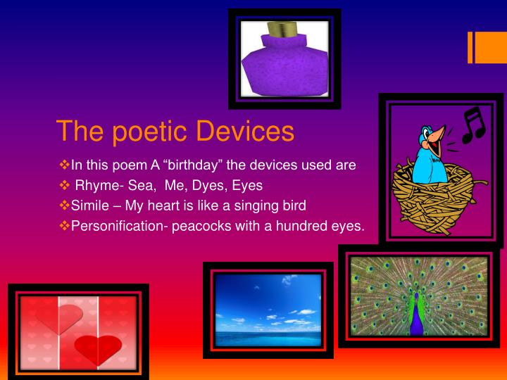 The poetic Devices