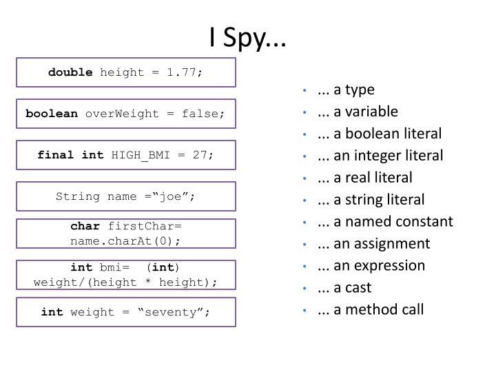 I Spy...