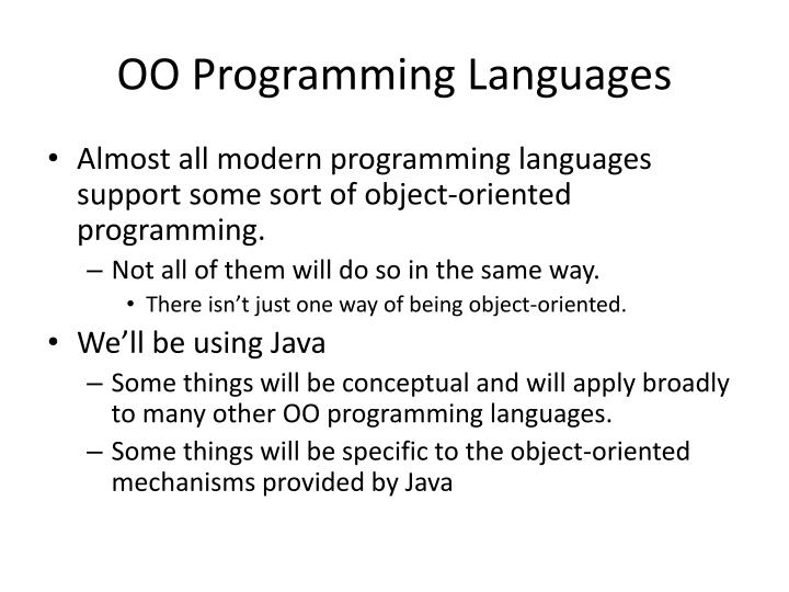 OO Programming Languages