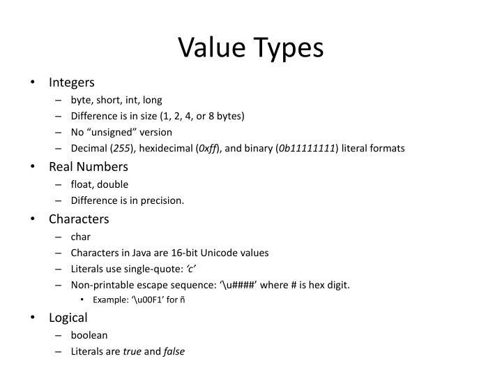 Value Types