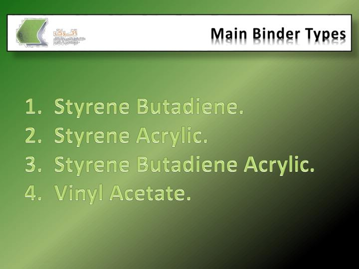 Main Binder Types